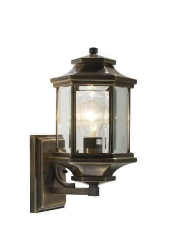 Ladbroke 1-light Antique Brass Double Insulated Outdoor Wall Light  (Double Insulated) BXLAD1675-17